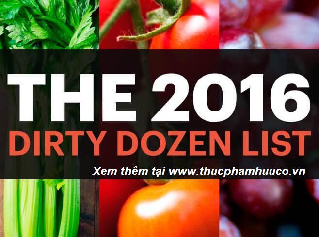 12 LOẠI RAU QUẢ NGẬM NHIỀU HÓA CHẤT NHẤT 2016
