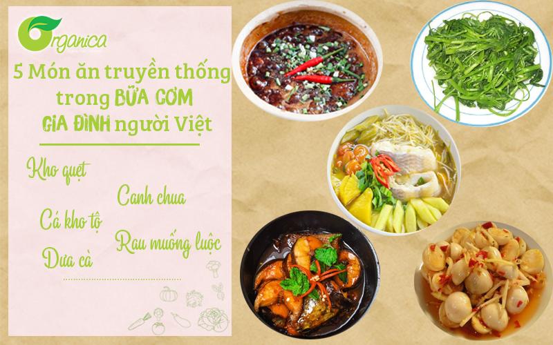 5 Món ăn truyền thống trong bữa cơm gia đình người Việt