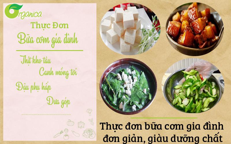 Hướng dẫn nấu bữa cơm gia đình đơn giản, giàu dưỡng chất