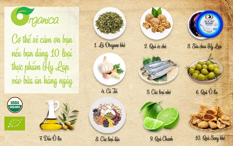 Cơ thể sẽ cảm ơn bạn nếu bạn dùng 10 loại thực phẩm Hy Lạp dưới đây vào bữa ăn hàng ngày