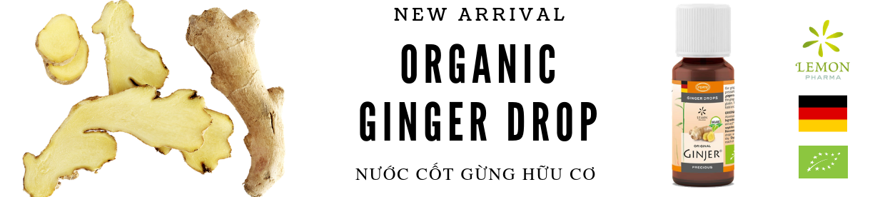 Organic ginger drop