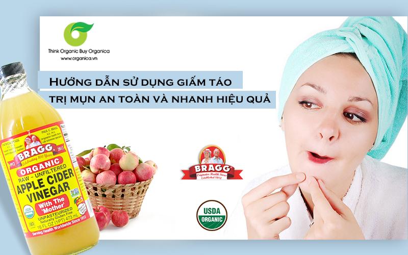 Hướng dẫn sử dụng giấm táo trị mụn an toàn và nhanh hiệu quả
