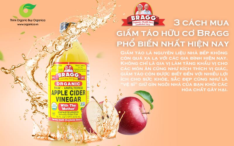 Hướng dẫn mua giấm táo hữu cơ Bragg chất lượng an toàn