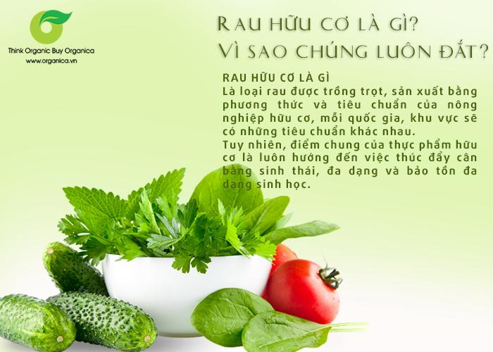 Rau hữu cơ là gì? Vì sao rau hữu cơ lại đắt hơn so với bình thường ?