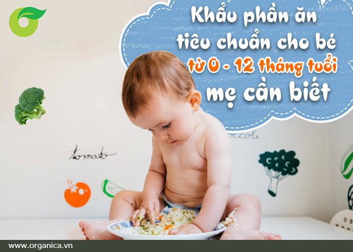Khẩu phần ăn tiêu chuẩn cho bé từ 0- 12 tháng tuổi, mẹ phải biết