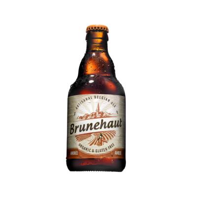 Bia ALE hữu cơ Amber Brunehaut 330ml