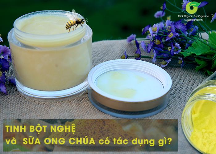 3 cách dùng tinh bột nghệ sữa ong chúa đẹp da, gọn dáng