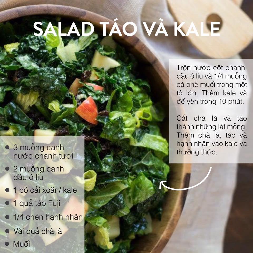 Salad Táo và Kale