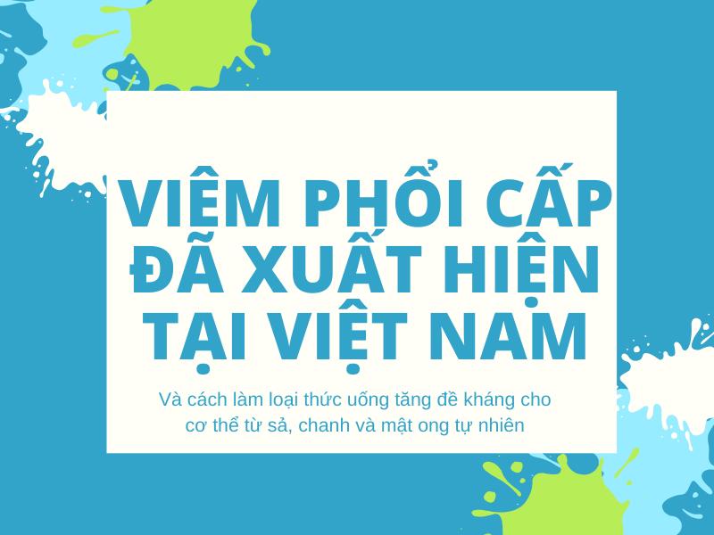 Dịch bệnh viêm phổi cấp đã tới Việt Nam
